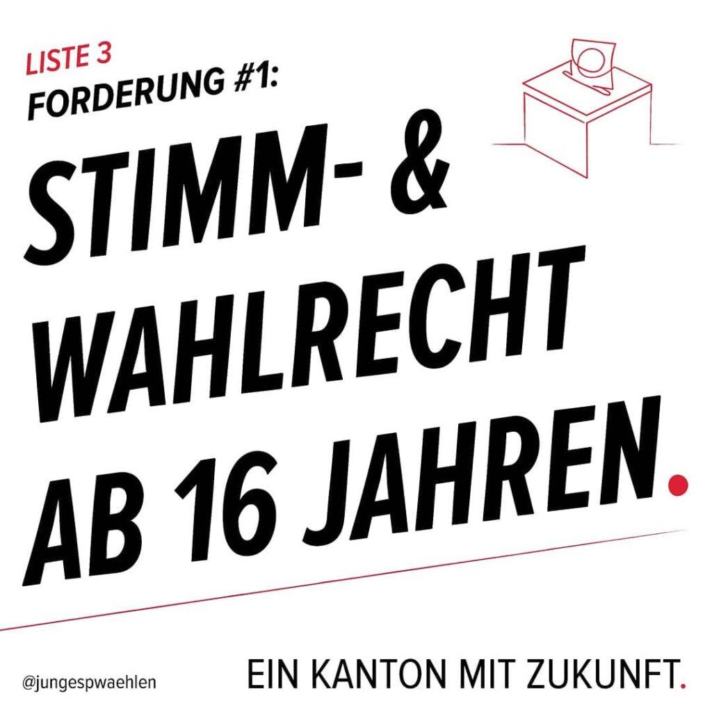 """Gedanken zur Forderung """"Stimm- und Wahlrecht ab 16 Jahren"""""""